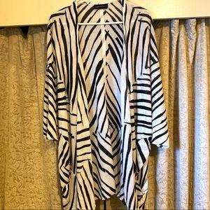 Lane Bryant Zebra Kimono Shrug Knit Cardigan